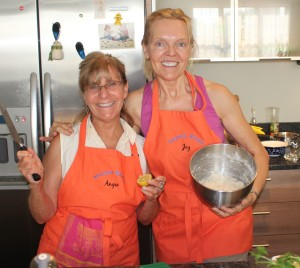 Angie & Joy in the kitchen